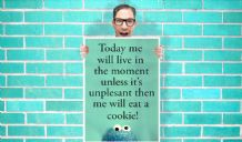 Cookie Monster Live in the moment eat cookies Art Pint - Wall Art Print Poster Pick A Size - Cartoon Art Geekery